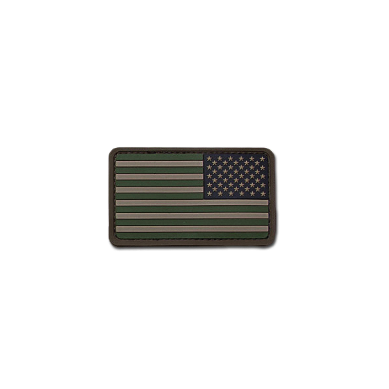 MilSpecMonkey Patch U.S. Flag REV PVC forest