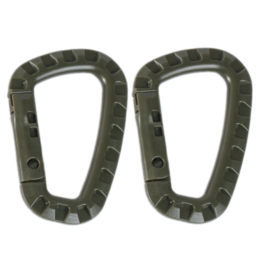 ABS Carabiner Plastic 2 pack olive