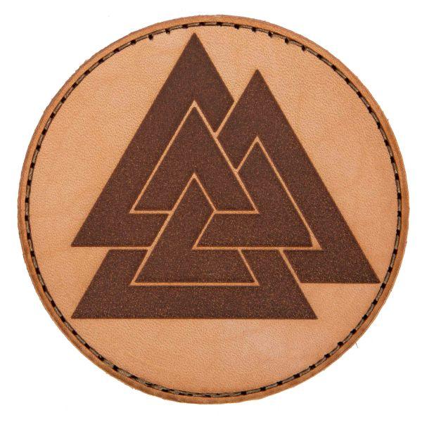 MD-Textil Leather Patch Valknut sand