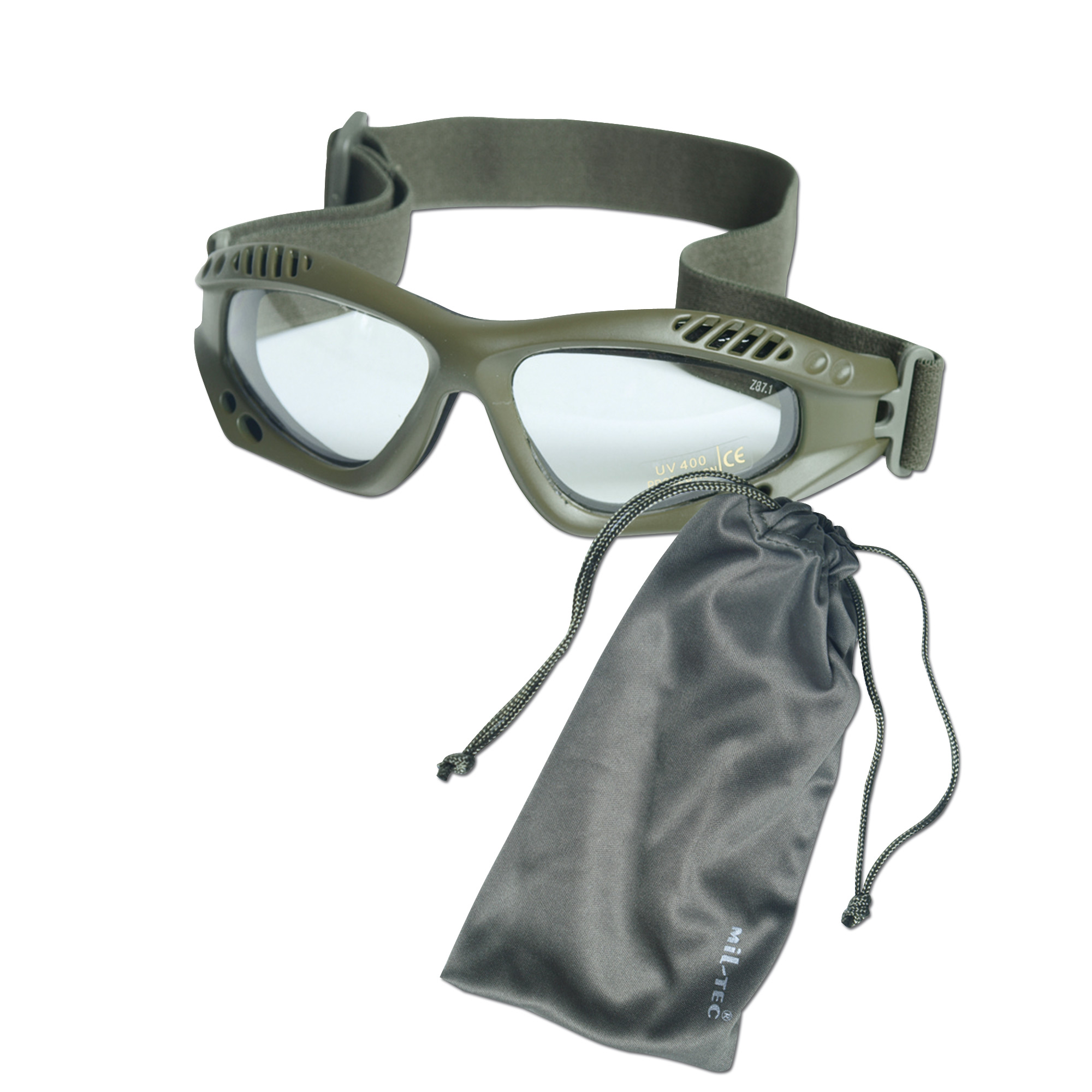Goggles Commando Air-Pro clear/olive
