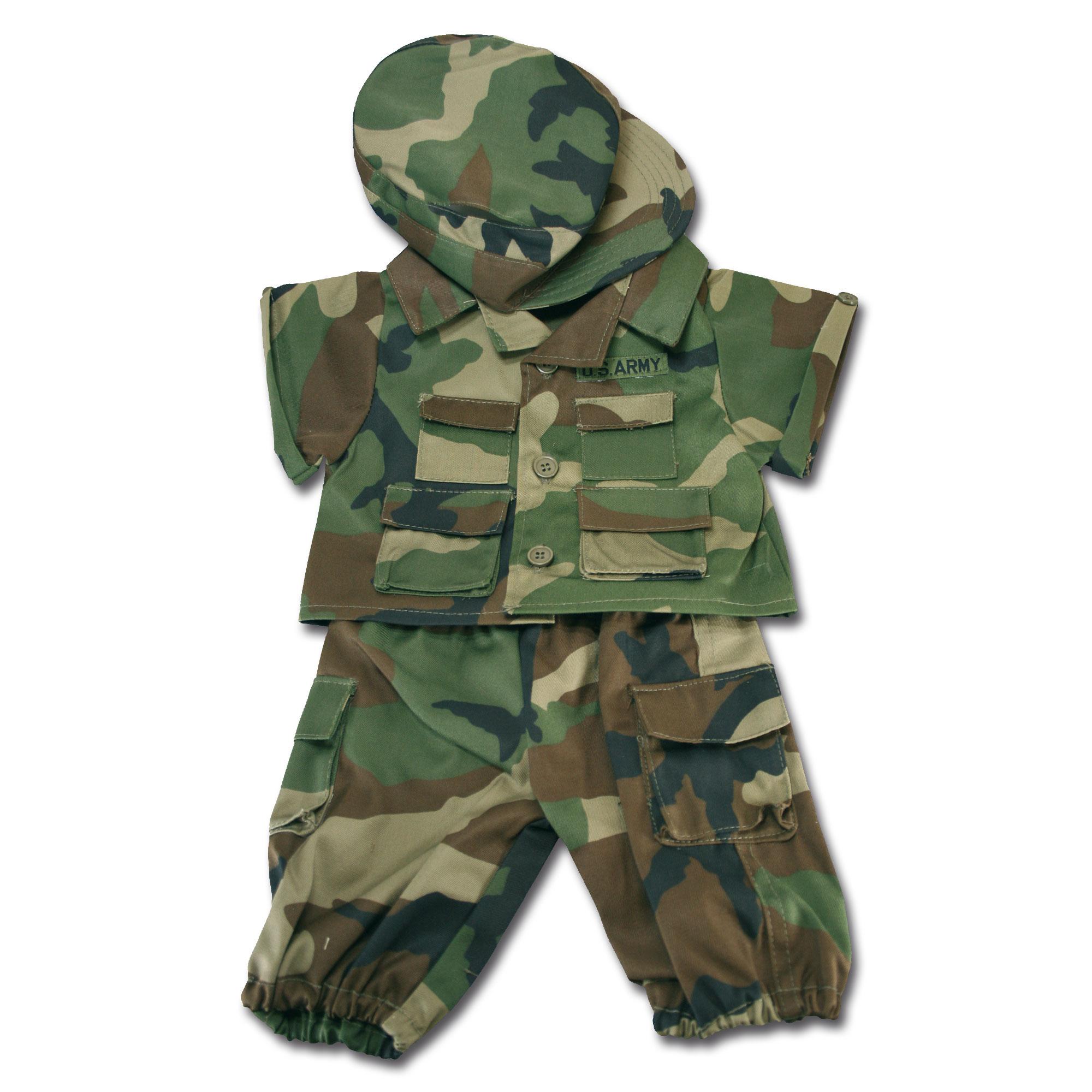 Teddy Bear Uniform woodland