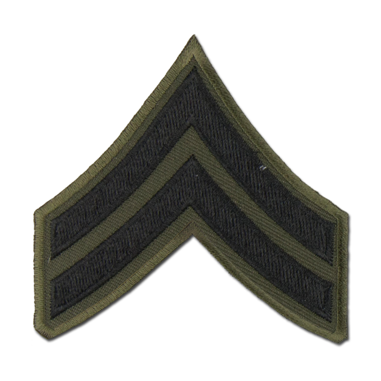 Rank Insignia U.S. Corporal black