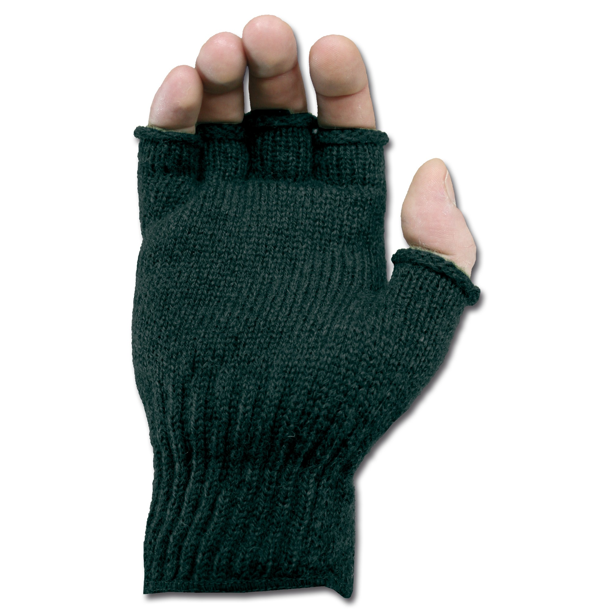 U. S. Fingerless Wool Gloves black