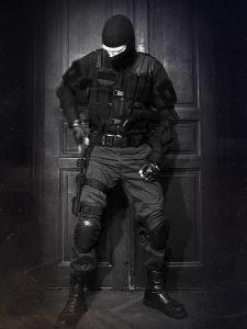 Einsatzweste USMC schwarz