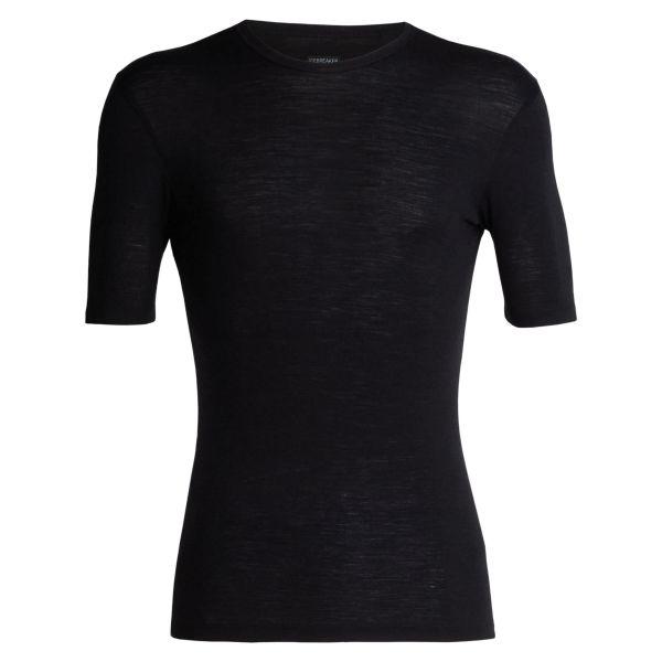 Icebreaker Short Sleeve Everyday Crew Merino black
