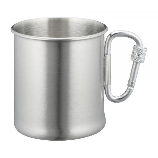 Mil-Tec Stainless Steel Carabiner Handle Cup 250 ml black