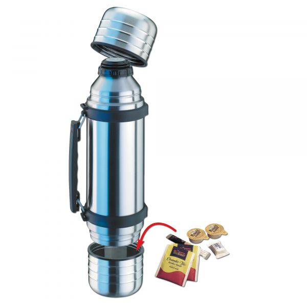 Isosteel DUO Vacuum Thermos Flask 1 liter