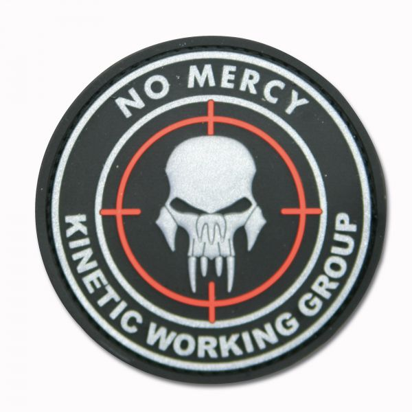 3D-Patch NO MERCY-KINETIC WORKING GROUP black