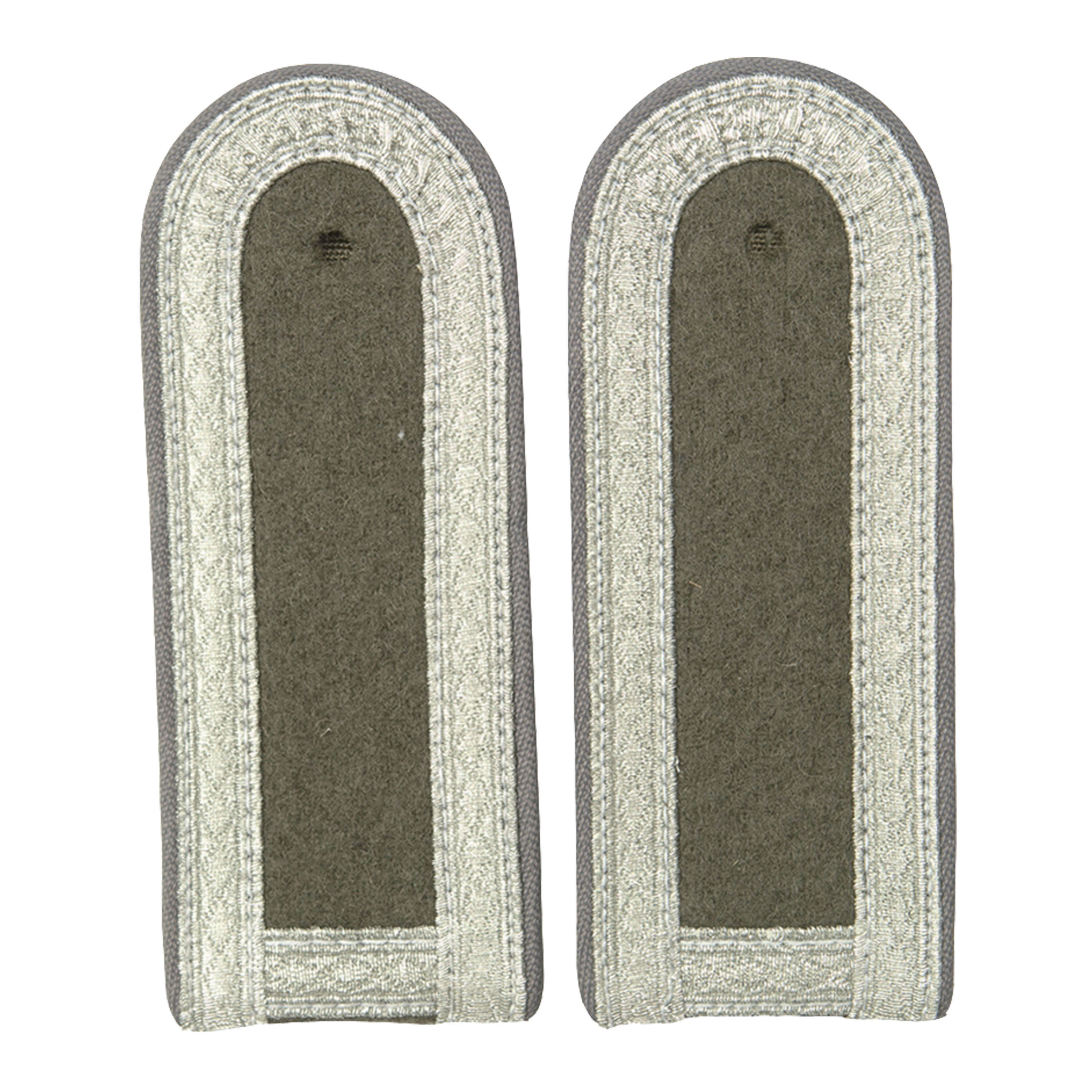 NVA Shoulder Tabs with Pipping Unterfeldwebel gray