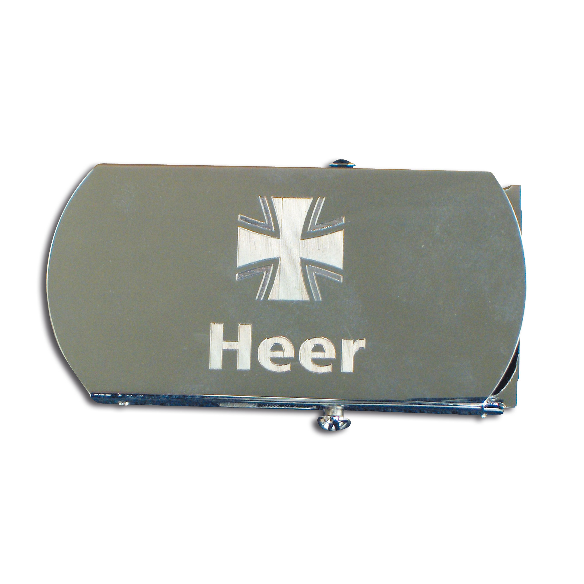 Belt with Engraved Buckle Heer