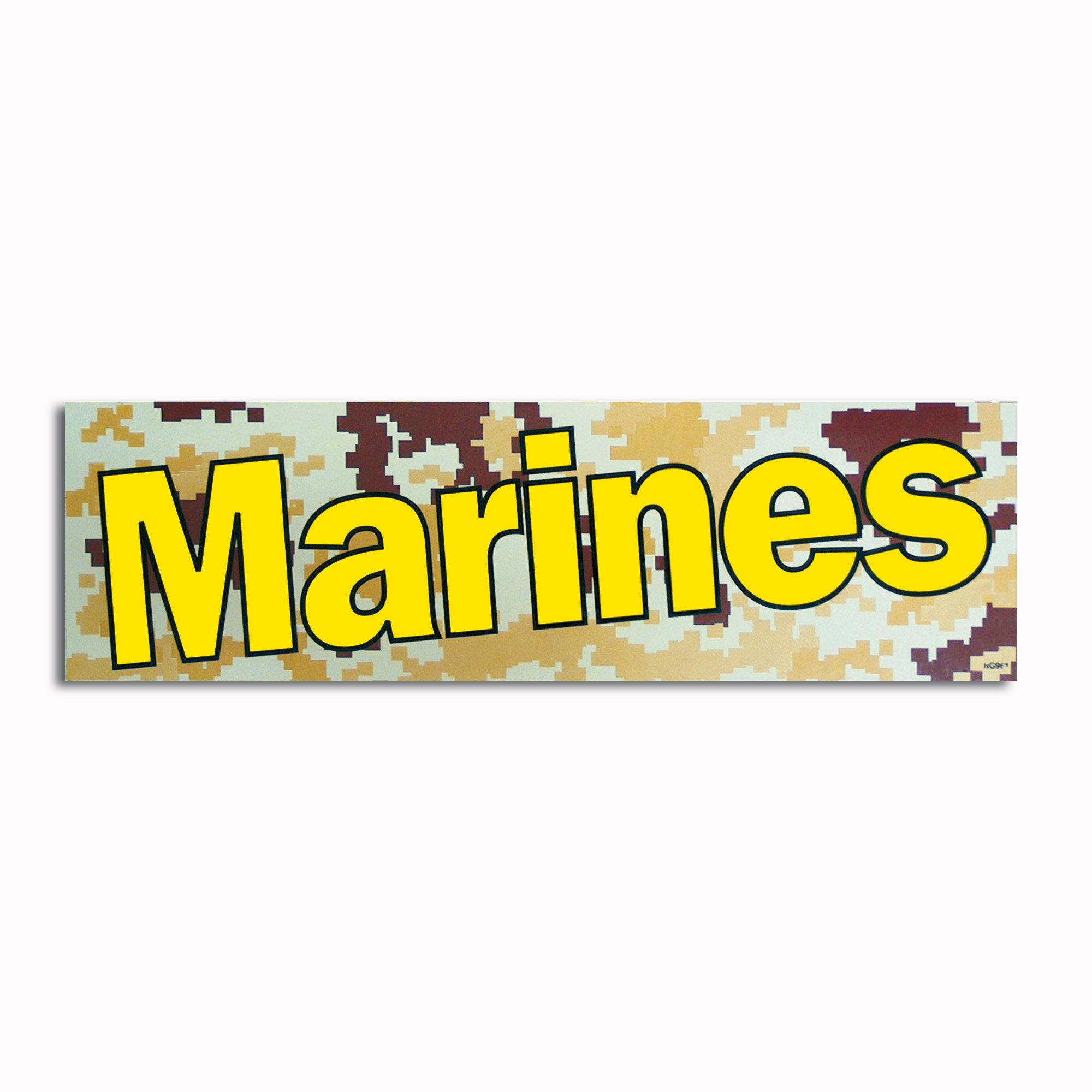 Bumper Sticker Marines digital desert
