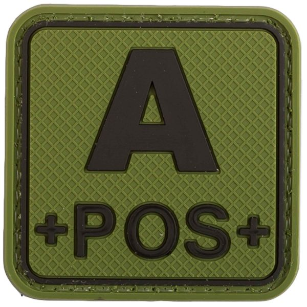 TAP 3D Blood Type Patch A POS Square forest