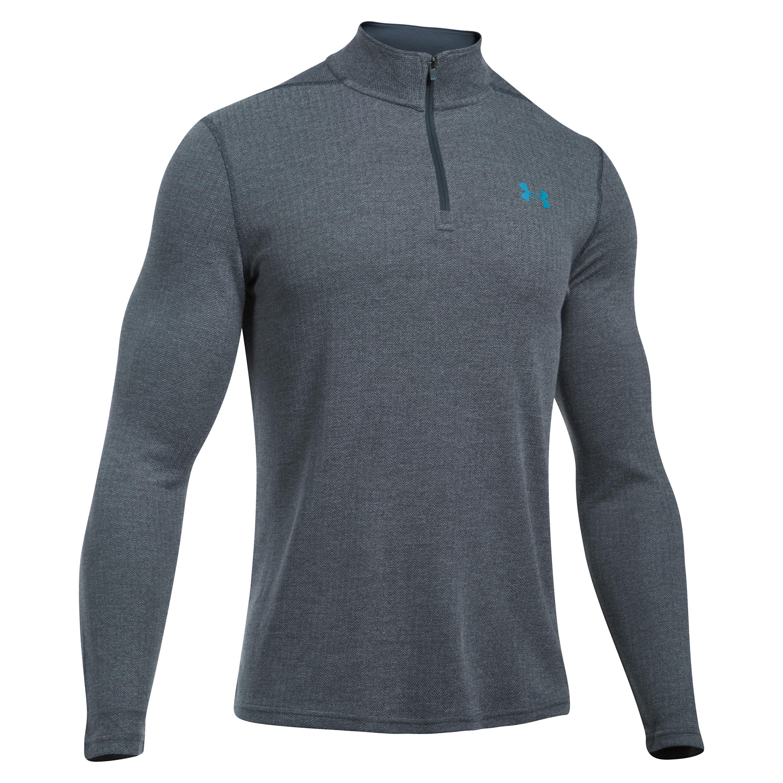 Under Armour Fitness Shirt Threadborne 1/4 Zip gray/blue