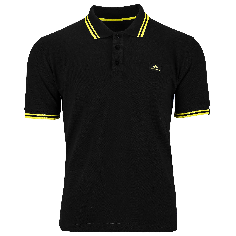 Alpha Industries Shirt Twin Stripe Polo II black/yellow