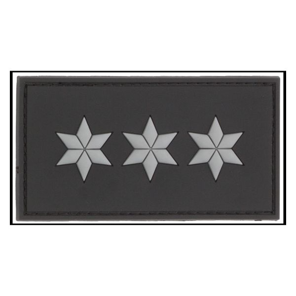 3D-Patch Rank Polizeihauptkommissar black