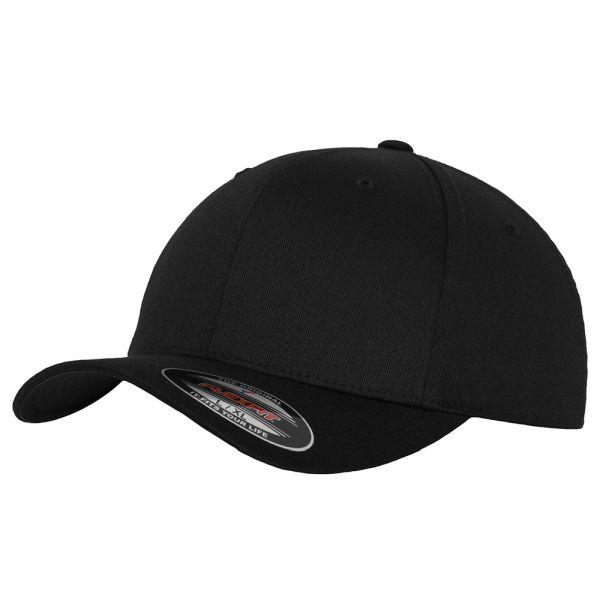 Flexfit Cap Wooly Combed black