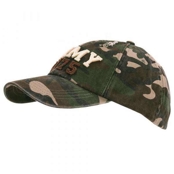 Fostex Garments Baseball Cap Stone Washed Army 1775 woodland