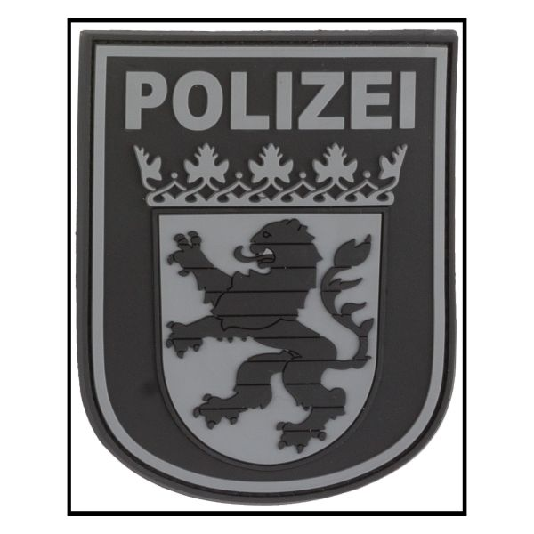 3D-Patch Arm Insignia Polizei Hessen blackops