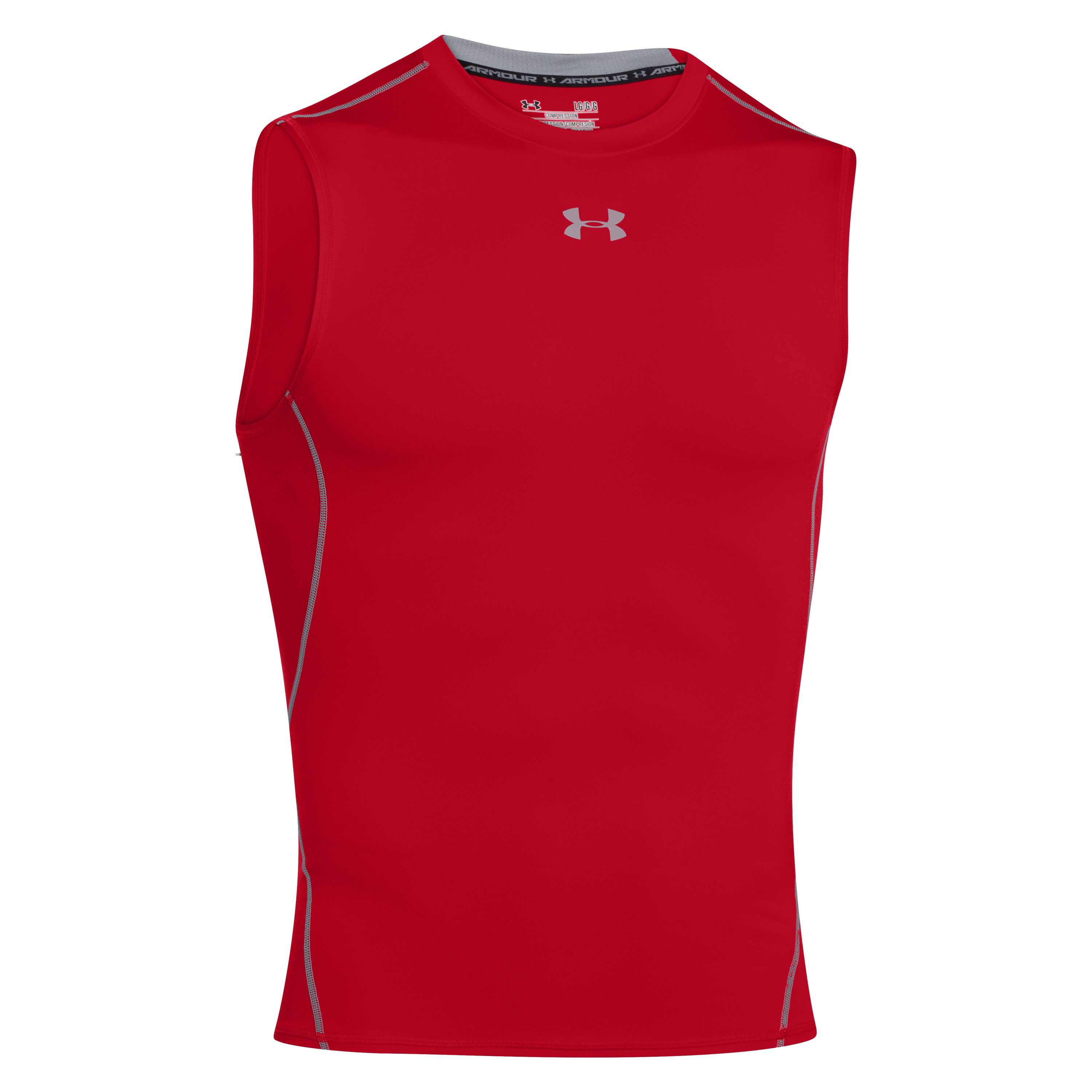 Under Armour Compression Shirt HeatGear Armour red/gray