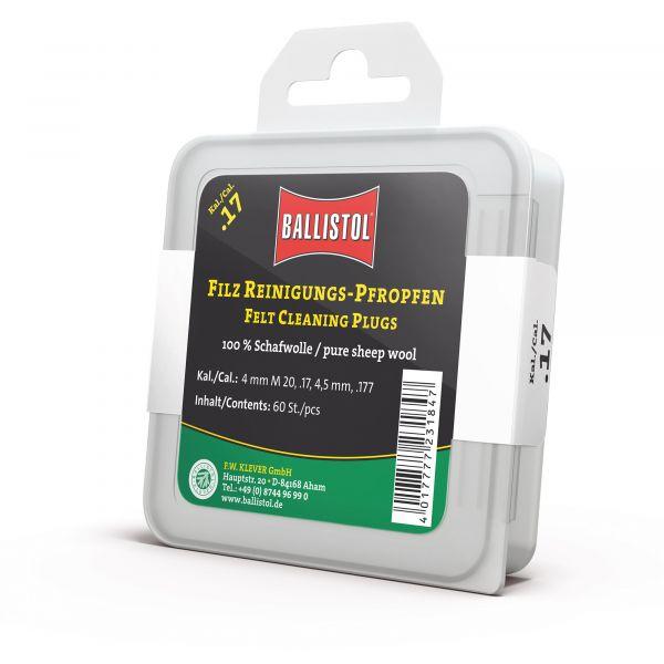 Ballistol Felt Cleaner Classic Cal. 17/ 4mm / 4.5mm 60 Pieces