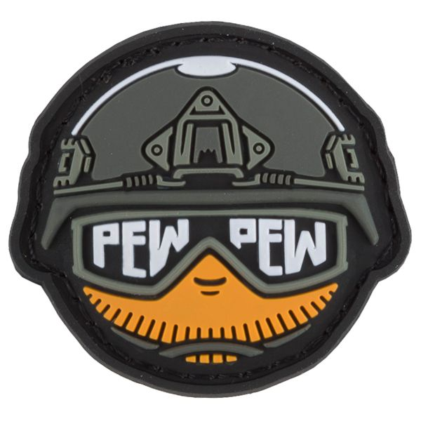 TacOpsGear 3D Patch PVC Tacticons No. 25 Pew Pew Smiley Emoji