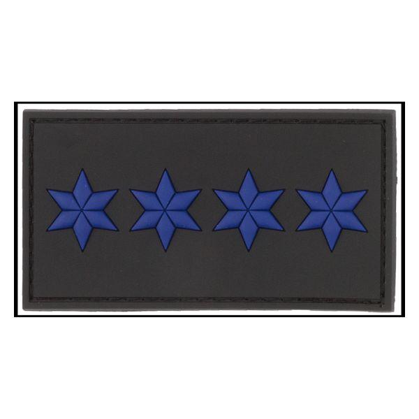 3D-Patch Rank Polizeihauptmeister black