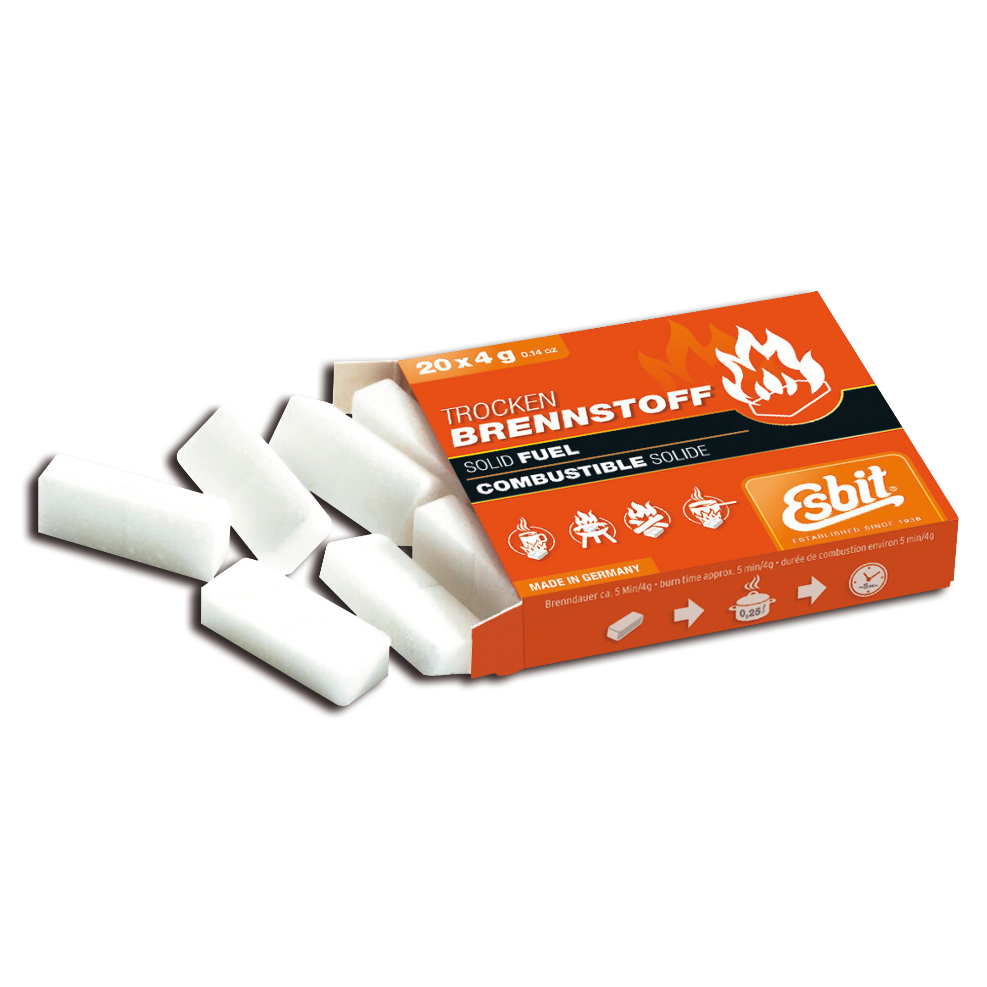 Esbit 4 g Solid Fuel Tablets Small 20-Pack
