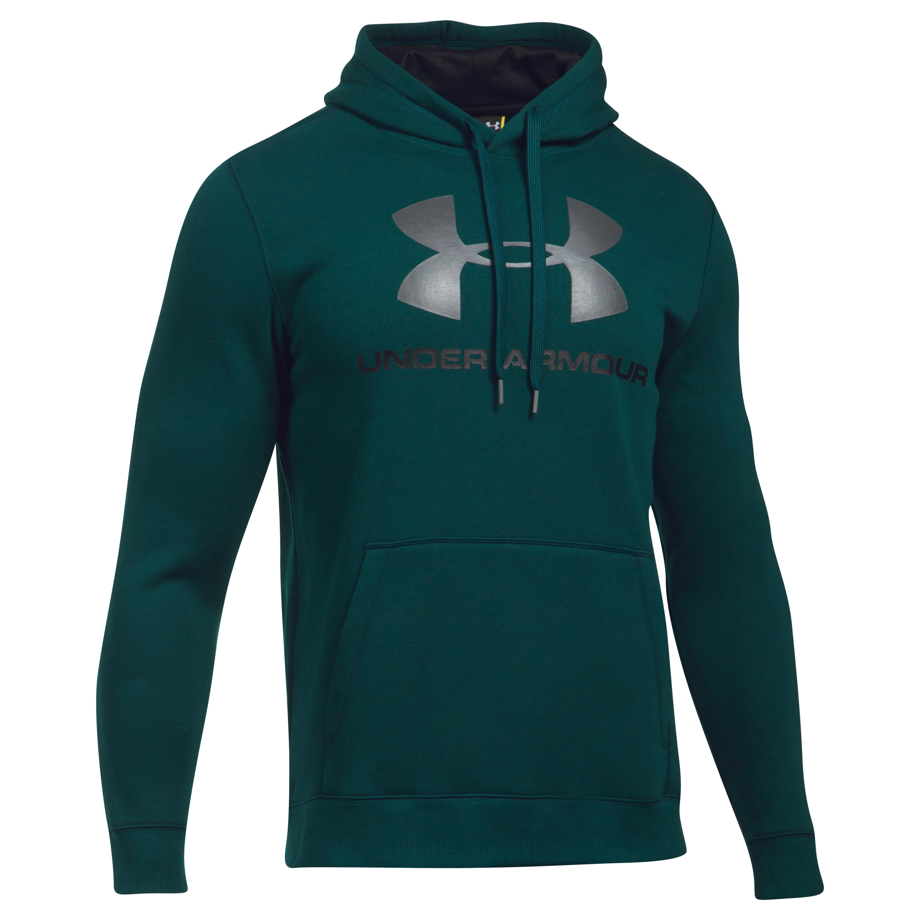 Under Armour Hoodie Rival Fitted Graphic petrol