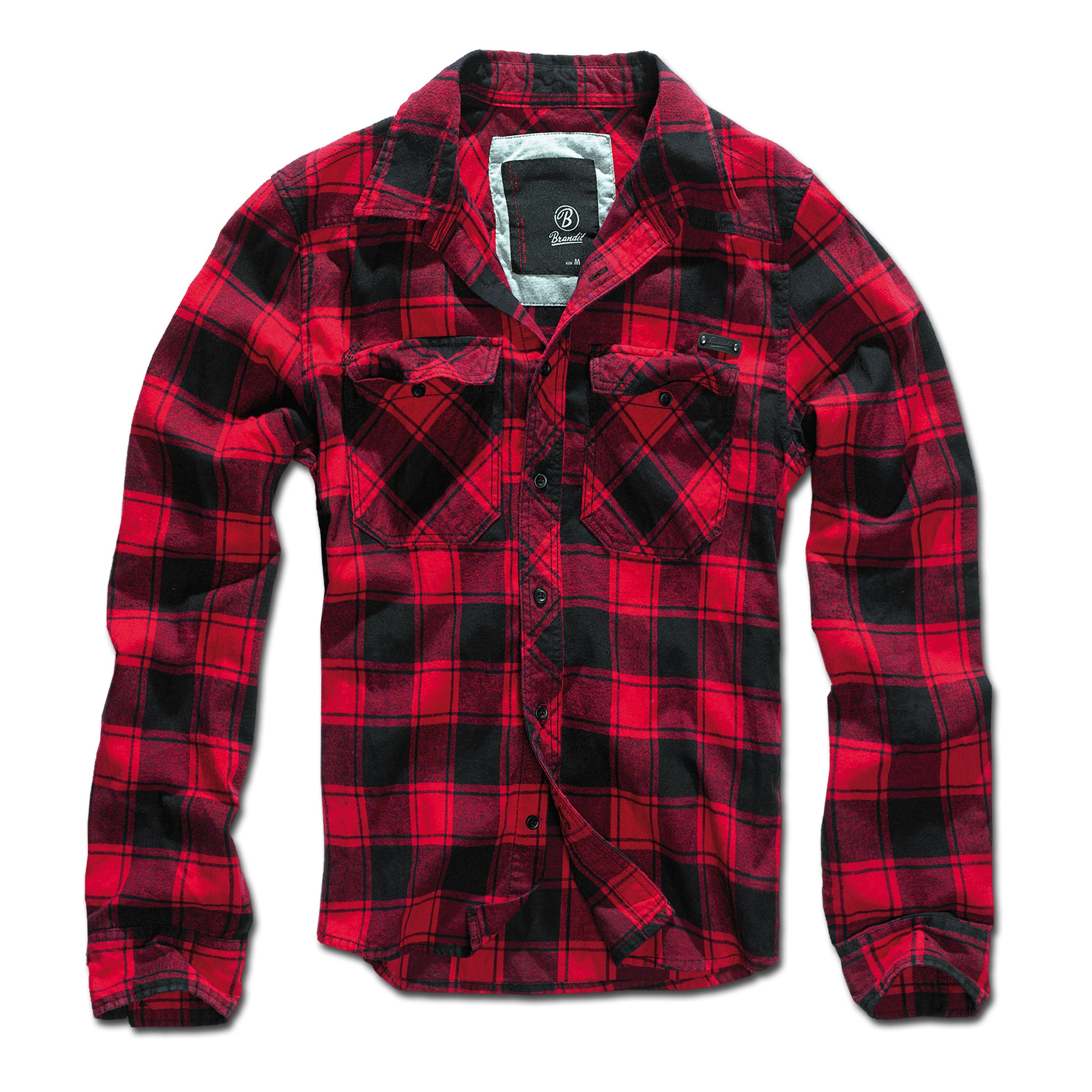 Brandit Check Shirt, black/red