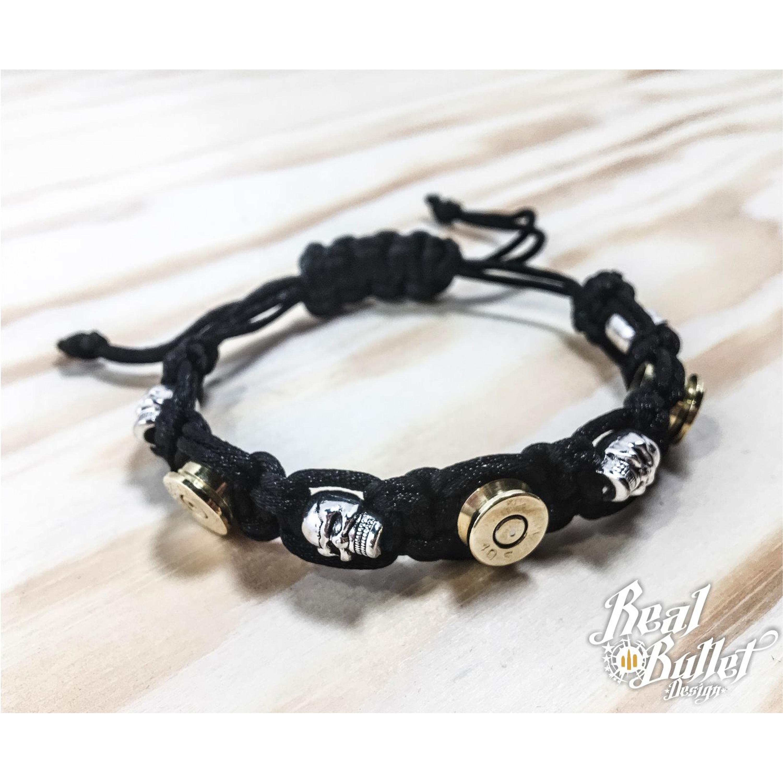 Real Bullet Design Bracelet Alpha Black Cord Lady