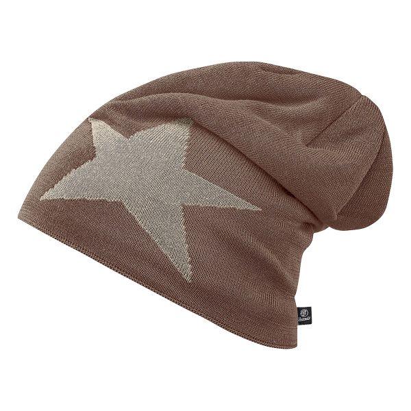 Brandit Beanie Jersey Star brown/khaki
