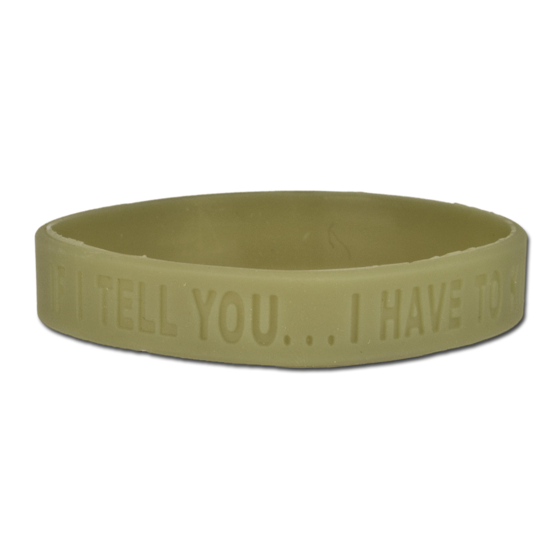 Silicone Bracelet ZBV- If I TELL YOU olive