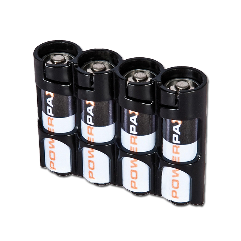 Battery holder Powerpax SlimLine 4 x AA black