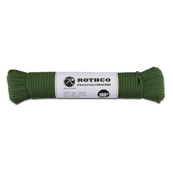 Paracord 550 lb hunter green 100 ft. Polyester