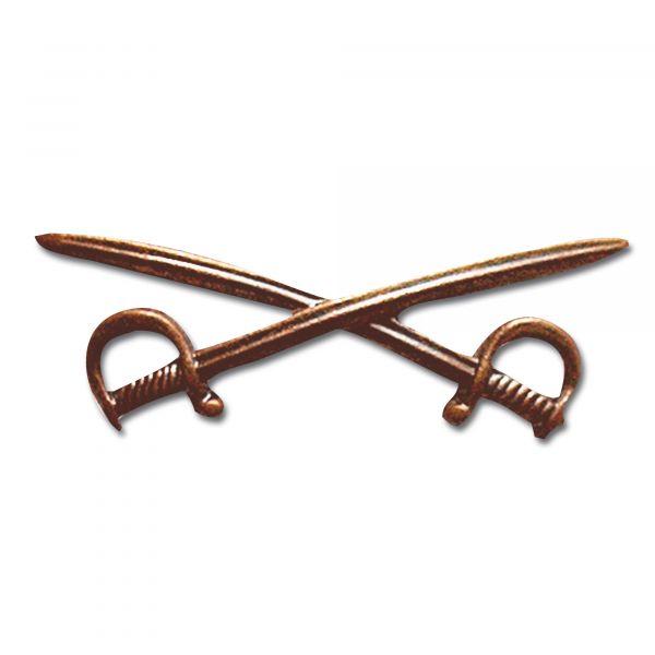 Lapel Pin BW Crossed Saber