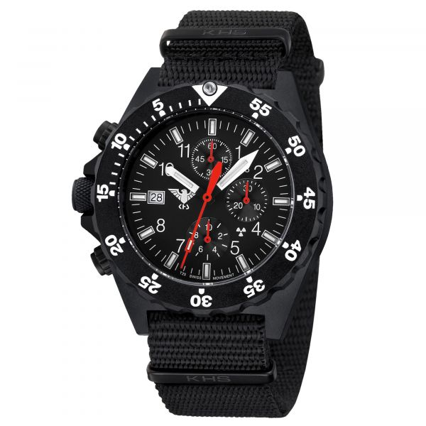 KHS Watch Shooter Chronograph Natoband black