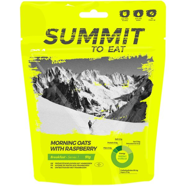 Summit to Eat Oats with Raspberries
