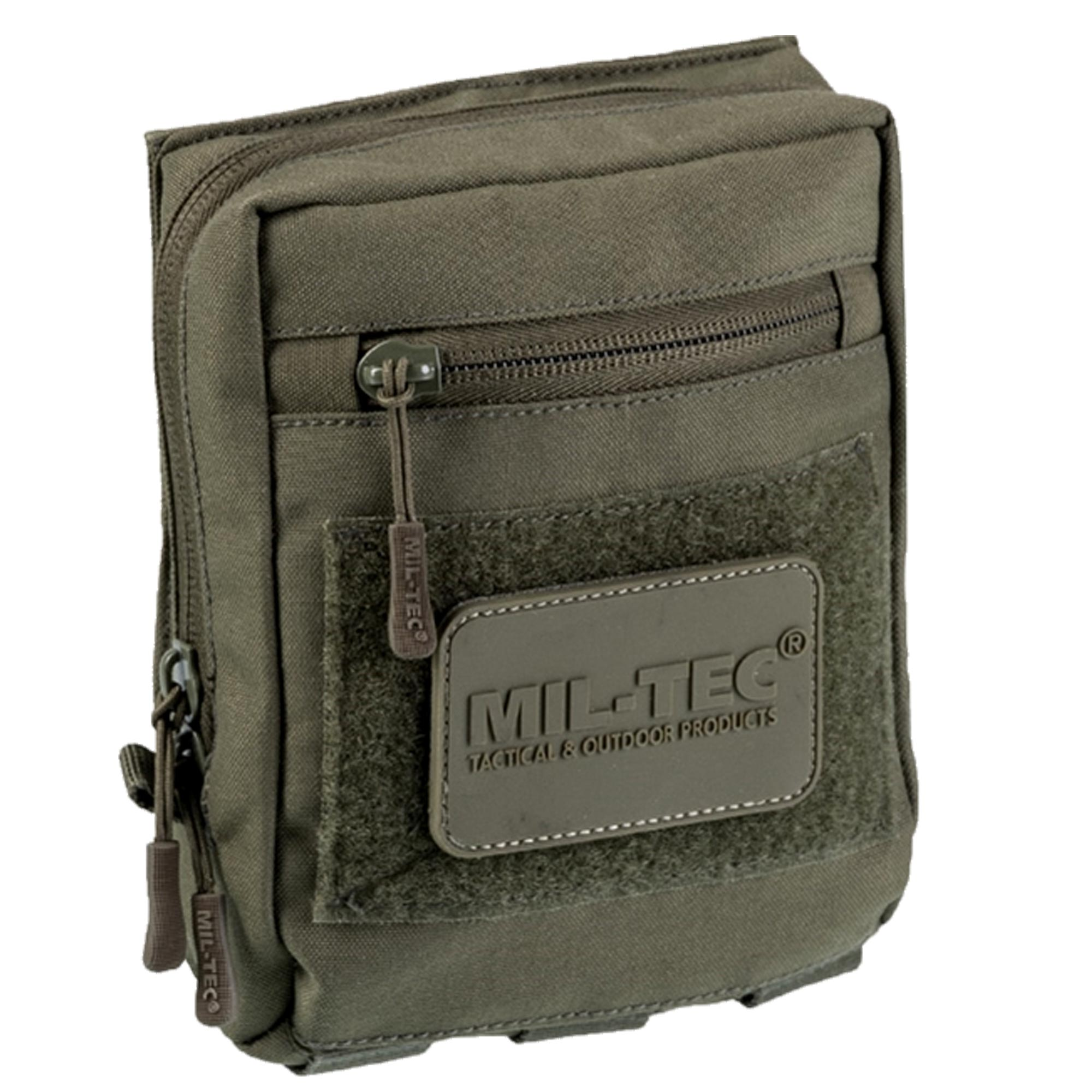 Mil-Tec Multipurpose Belt Pouch with Velcro Back olive