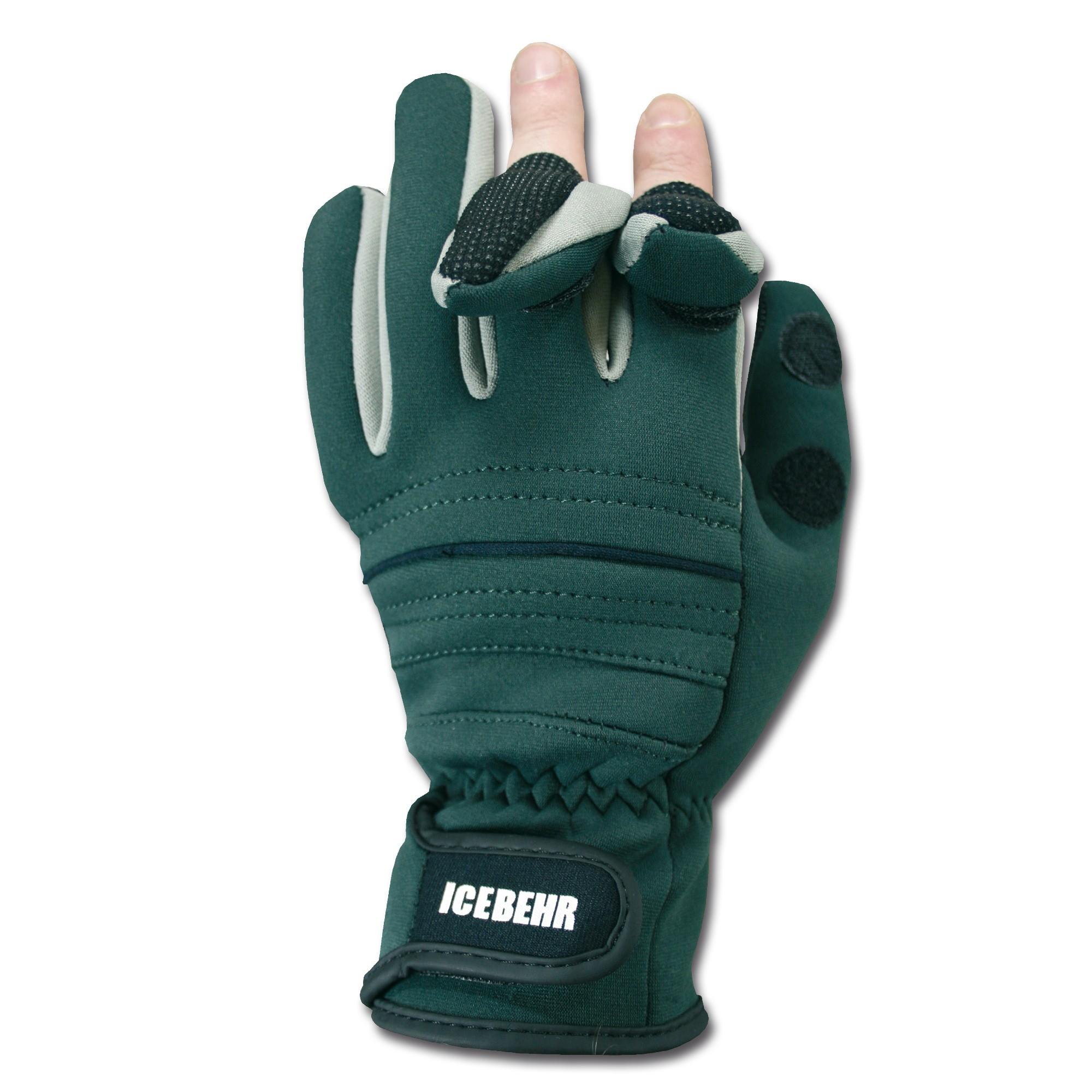 Neoprene Shooting Gloves Power Grip olive green