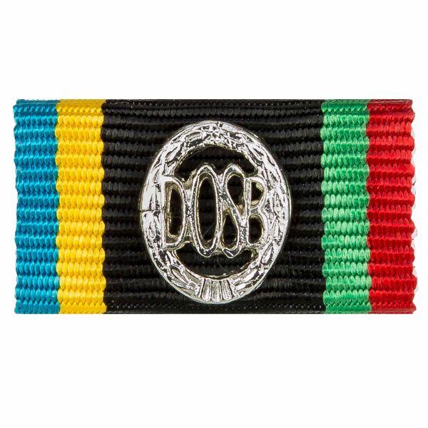 Service ribbon DOSB badge silver
