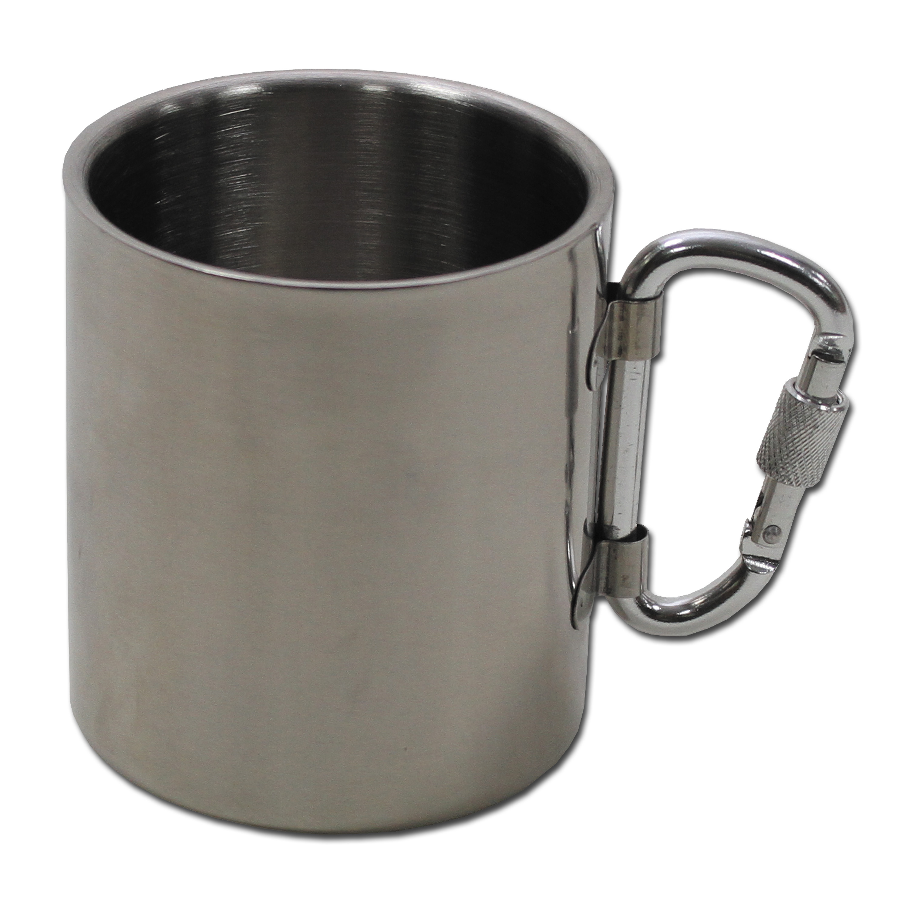 Stainless Steel Mug with Carabiner 300ml