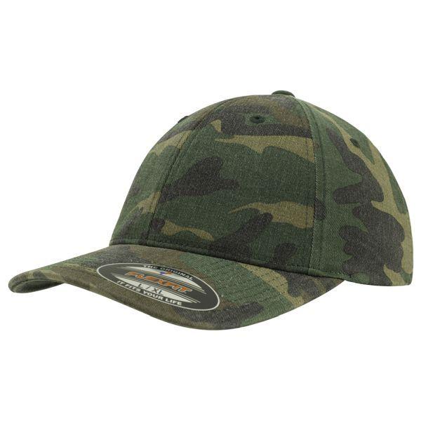 Flexfit Garment Washed Camo Baseball Cap Pack of 2