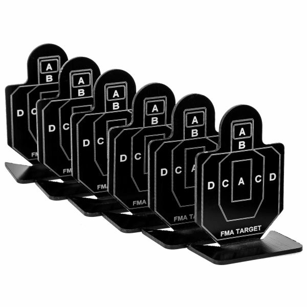 FMA Practice Targets A Group 6-Pack black
