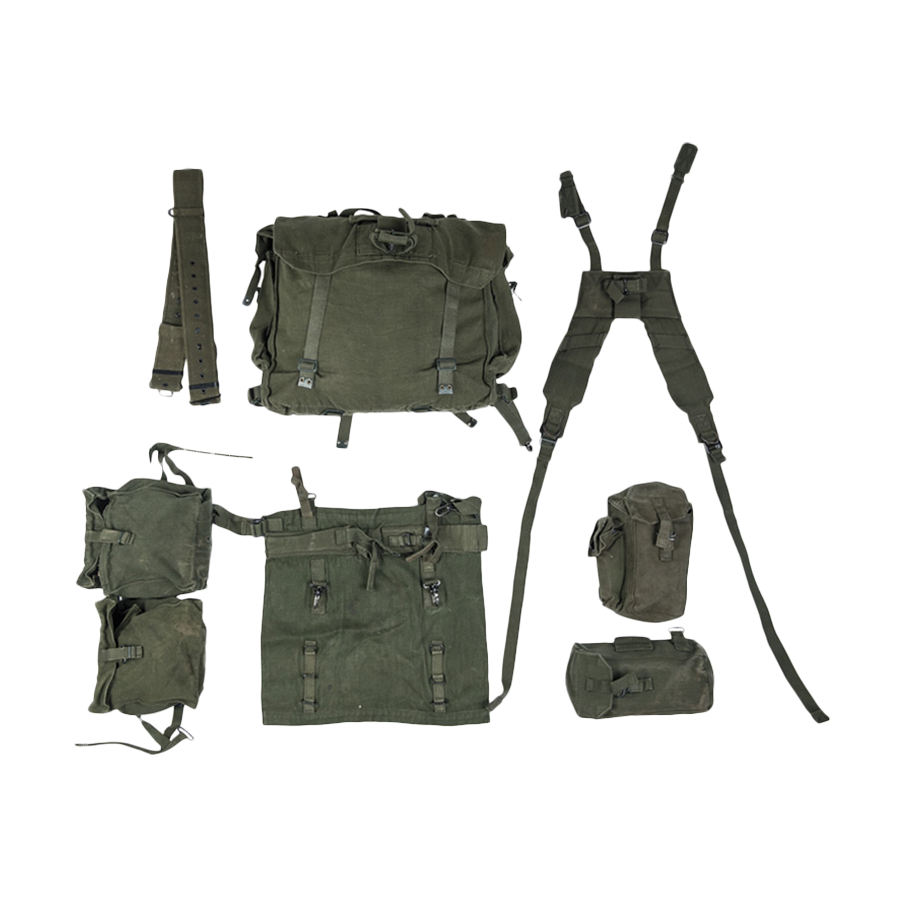 British Combat Rig M58 7 Piece Used
