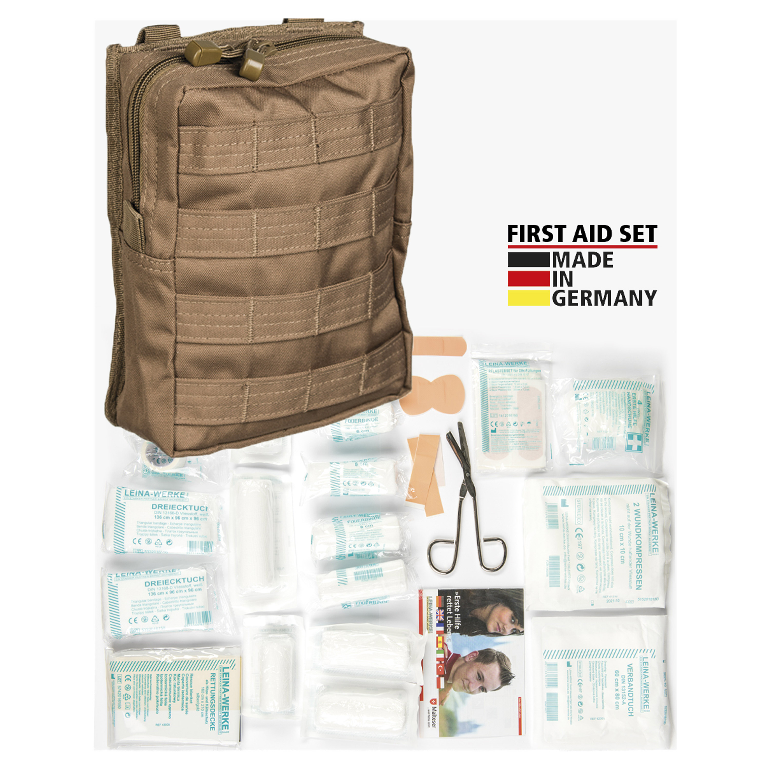 Leina First-Aid Set Pro 43-Piece dark coyote