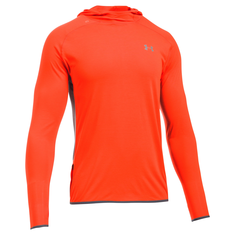 Under Armour Fitness Hooded Shirt Threadborne rot orange