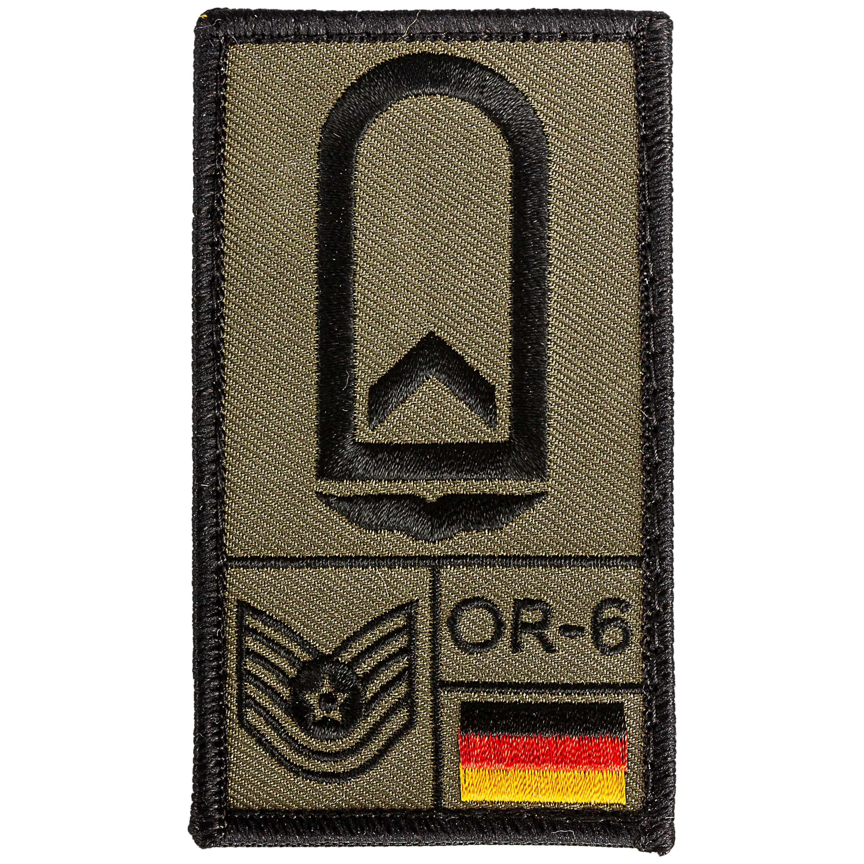 Café Viereck Rank Patch Feldwebel Luftwaffe olive