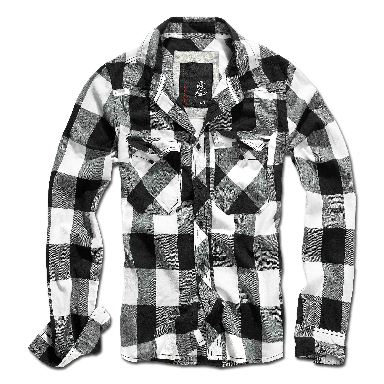 Brandit Check Shirt, black/white