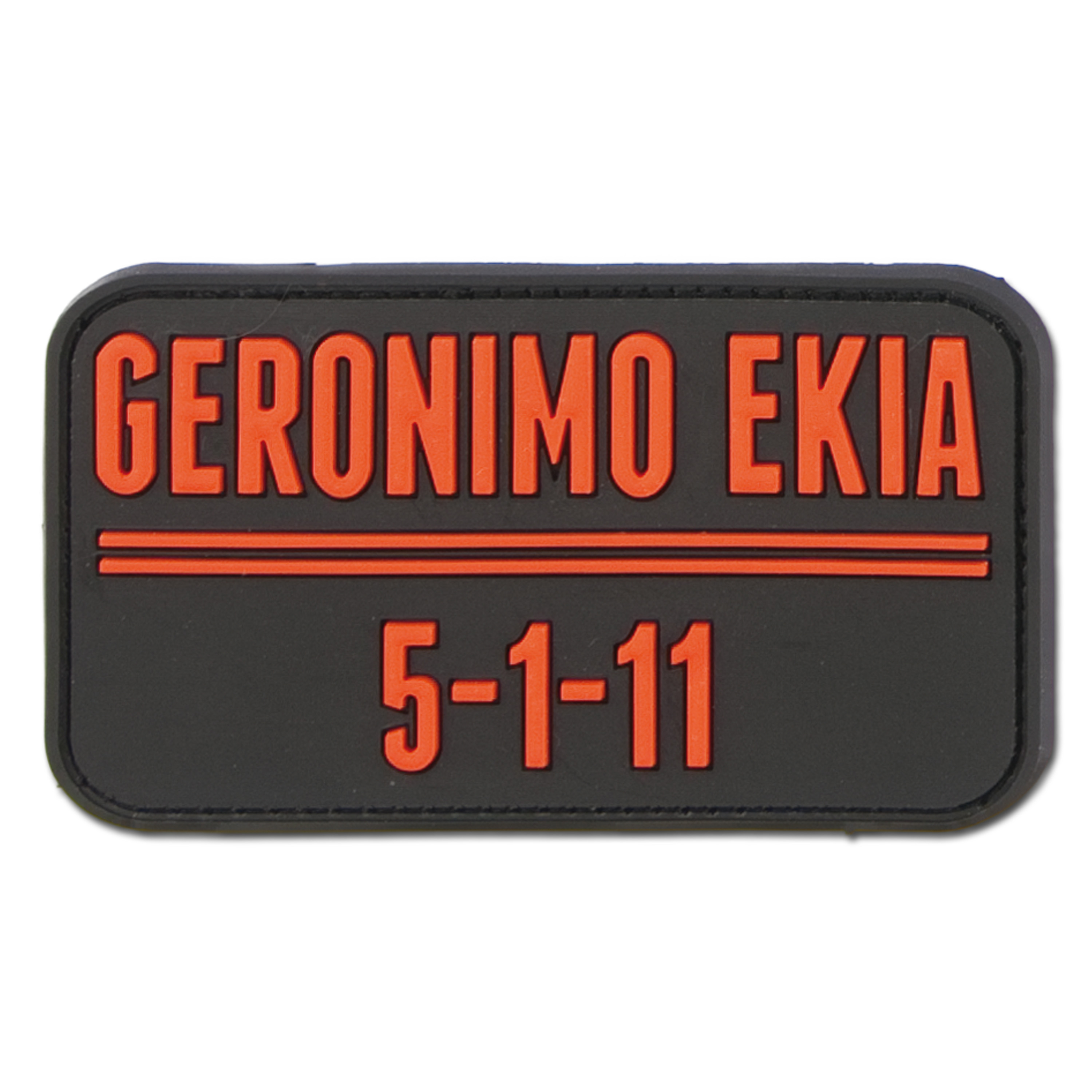 3D-Patch Geronimo Ekia black/red
