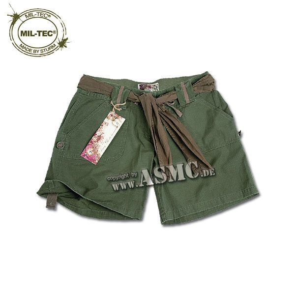 Army Shorts Woman olive